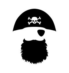 Pirate head vector