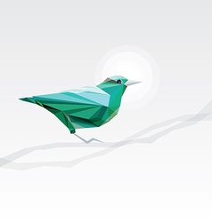 3d origami low polygon bird vector image