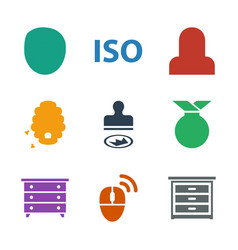 9 stamp icons vector