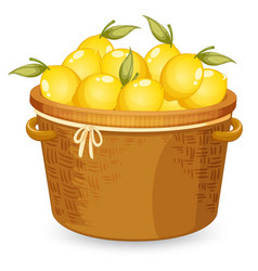 A basket lemon vector