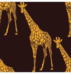 A giraffe seamless animal pattern or ba vector