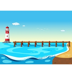 A lighthouse vector image