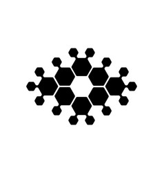 abstract logo hexagons suitable vector image