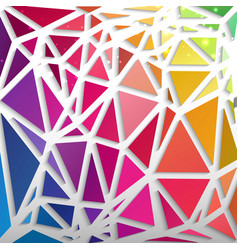Abstract pattern from triangles rainbow colors vector