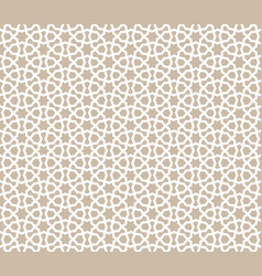 Abstract seamless pattern arabic line ornament vector