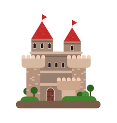 ancient castle medieval architecture building vector image