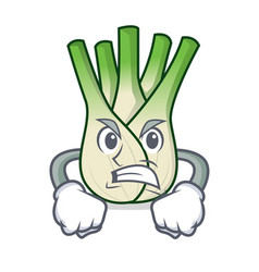 Angry fennel mascot cartoon style vector