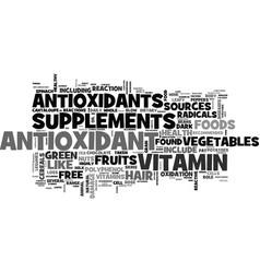 Antioxidant food sources text word cloud concept vector