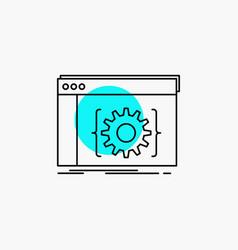 Api app coding developer software line icon vector