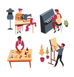 Art and culinary hobbies or home leisure activity vector