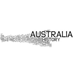 Australia history text background word cloud vector