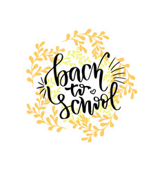 Back to school banner handwritten lettering vector