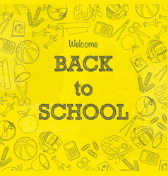 back to school signs wallpaper vector image