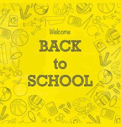 Back to school signs wallpaper vector