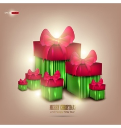 background with beautiful gifts and place for text vector image