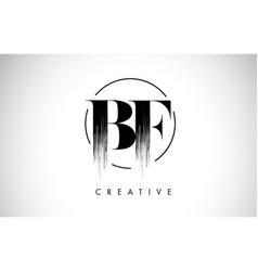 Bf brush stroke letter logo design black paint vector