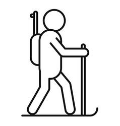 biathlon running icon outline style vector image