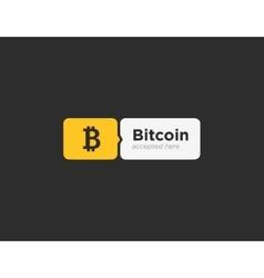 Bitcoin accepted sticker vector