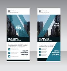 Blue elegance Business Roll Up Banner flat design vector image
