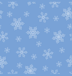 blue winter love seamless repeating pattern vector image