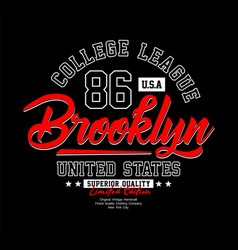 brooklyn typography t-shirt graphics vector image
