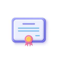 Certificate icon achievement award grant diploma vector