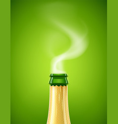 champagne wine bottle vector image