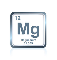 chemical element magnesium from the periodic table vector image