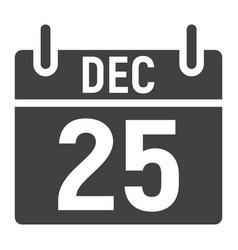 christmas calendar glyph icon christmas vector image