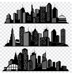 Cityscapes town skyline buildings big city vector