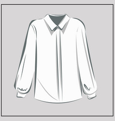 classic white shirt blouse oversize fashion vector image