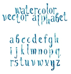 Colorful watercolor aquarelle font type vector