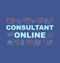 Consultant online word concepts banner vector