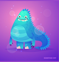 Cute monster set for halloween vector
