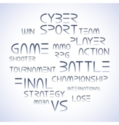 Cyber sport phrases vector