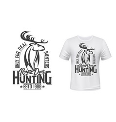 deer animal hunting club t-shirt mockup vector image