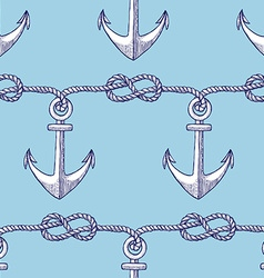 Engraved eternity eight knot and anchor vector image