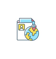Ethnic origin privacy rgb color icon vector