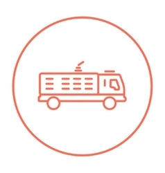 Fire truck line icon vector