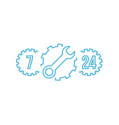 fix support customer service 24 hours 7 days a vector image