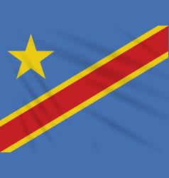 flag democratic republic of congo realistic vector image