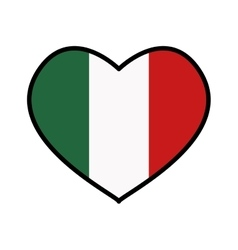 Flag icon Italy design graphic vector