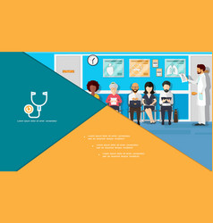 flat medicine colorful composition vector image