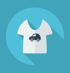 Flat modern design with shadow children t-shirt vector