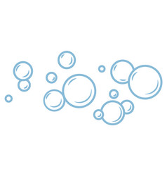 Foam bubbles cleaning or washing hygiene cosmetic vector