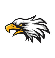 furious eagle head logo mascot vector image