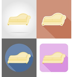 Furniture flat icons 31 vector