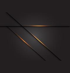 Gold light cross line shadow on dark grey vector
