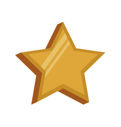 Golden star decoration symbol image vector