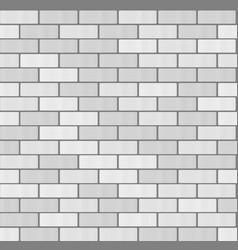Gray white brick wall seamless pattern background vector